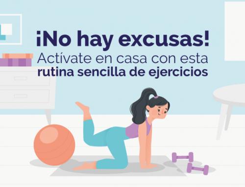 ¡No hay excusas! Actívate en casa con esta rutina sencilla de ejercicios